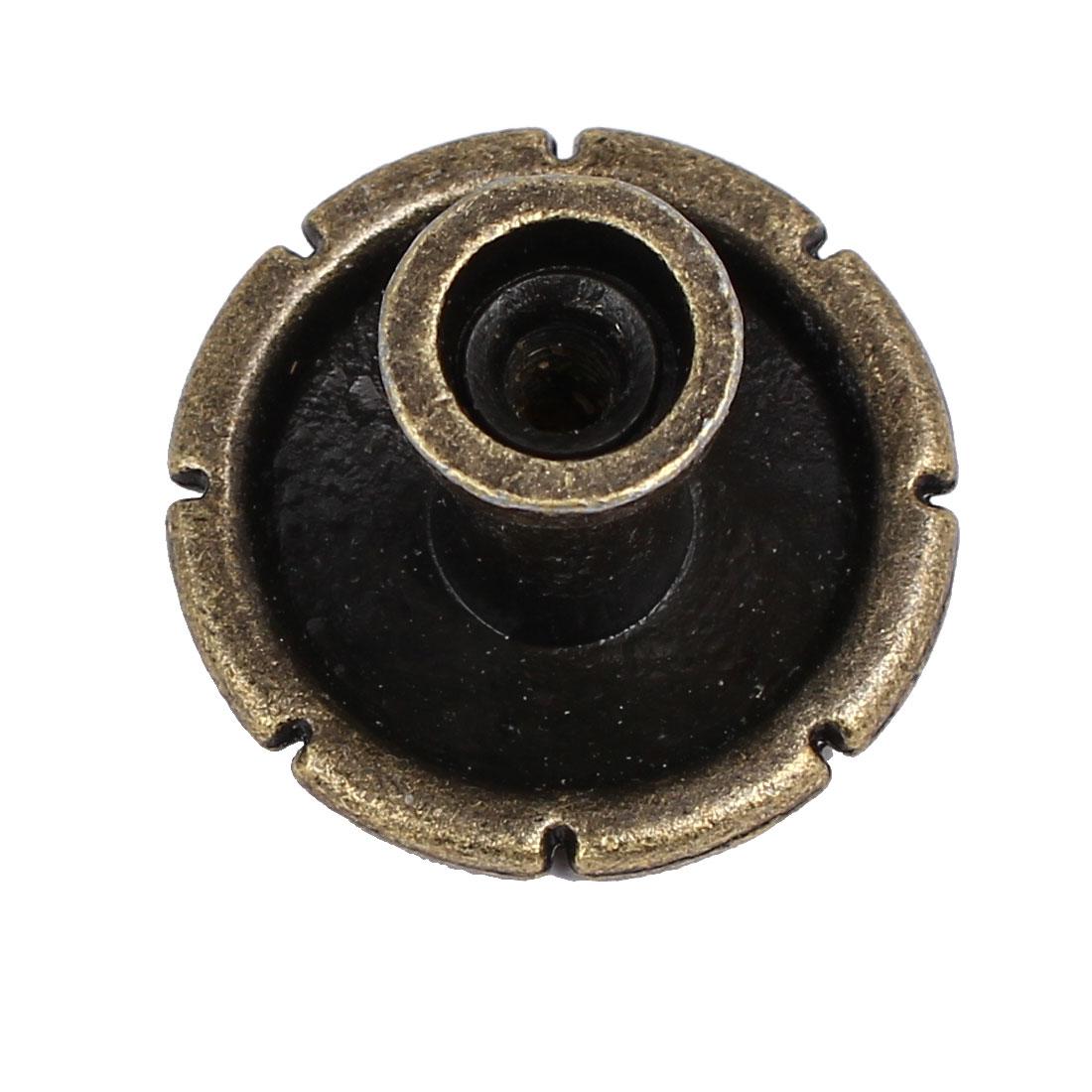 Porte raboteuse Style rétro Unique Trou Poignées Poignées Bouton 29mmx23mm 5pcs - image 1 de 3