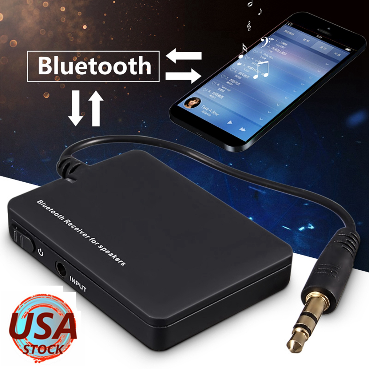 ELEGIANT Wireless bluetooth 3.5mm A2DP Audio Stereo Music Receiver Adapter Home