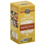 Lundberg Organic Thin Stackers Salt Free Brown Rice Puffed Grain Cakes, 5.9 oz, (Pack of 12)