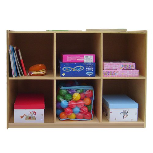 A+ Childsupply 6 Shelf Cubby Storage by A  Child Supply