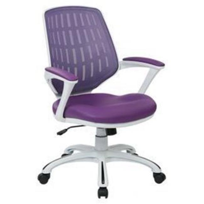 Avenue 6 Office Star Calvin Office Chair with Frame and Mesh Fabric with Arms