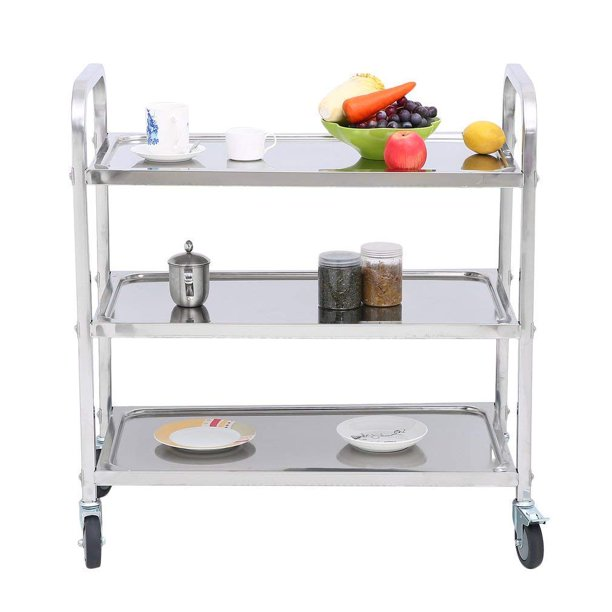 Stainless Steel 3 Tier Kitchen Trolley