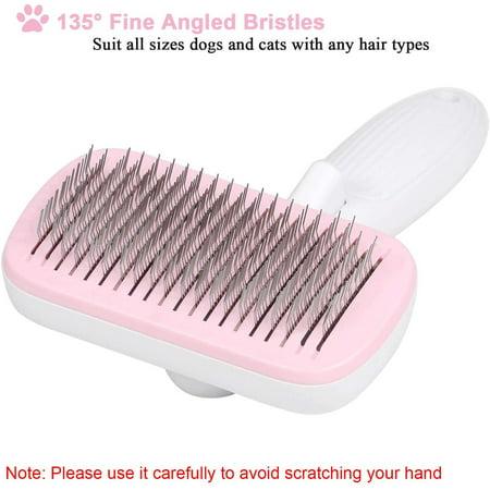 Self Cleaning Slicker Brush For Short Hair Dog Brush Removes Tangled Hair Cat Dog Grooming Brush