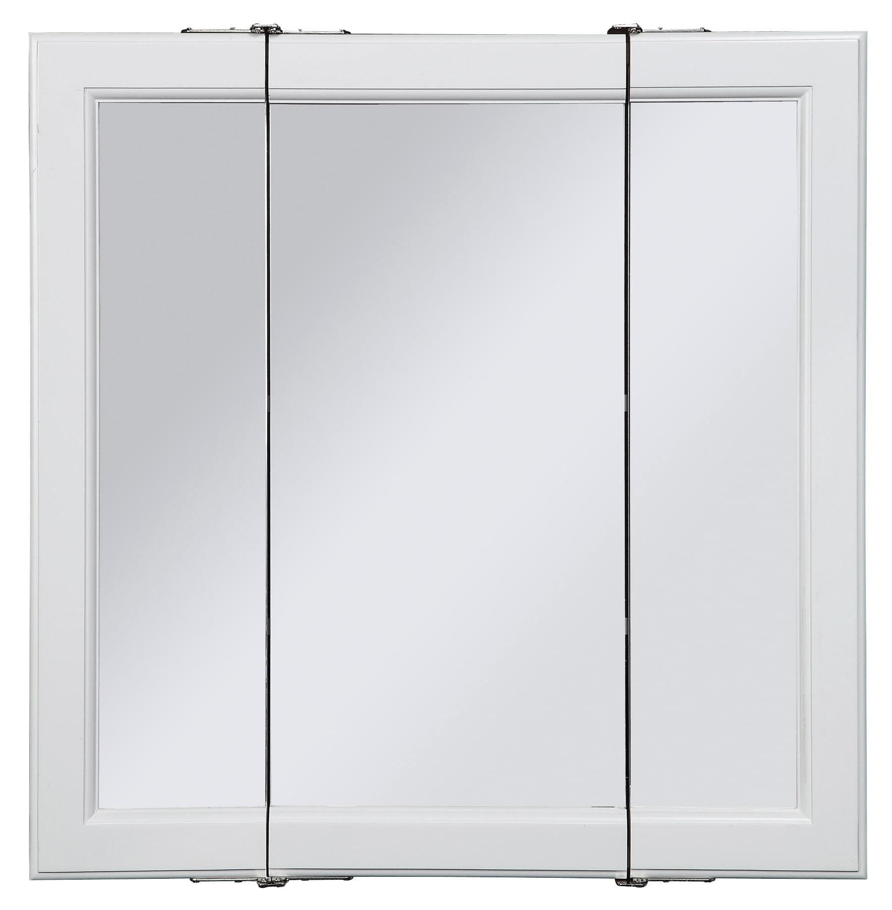 Design House 545103 Wyndham Tri View Medicine Cabinet Mirror 36 White