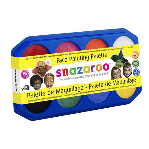 Snazaroo Face Paint Palette: Face Painting Party 8 Pack