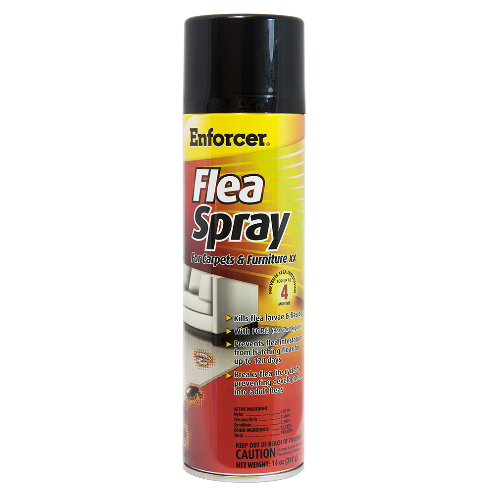 Enforcer Flea Spray for Carpet and Furniture 14 oz