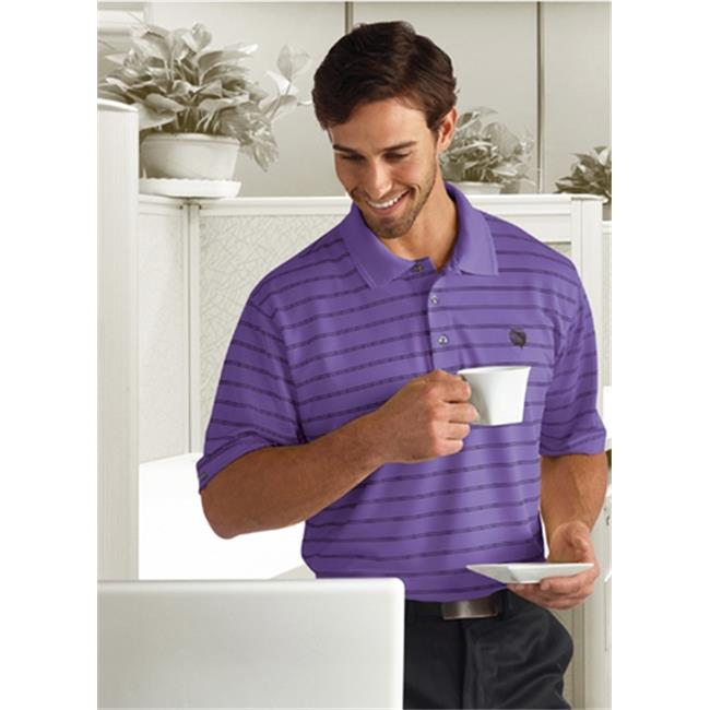 Bermuda Sands 870 Mens Catalina Pinstripe Polo - Purple Haze, Large