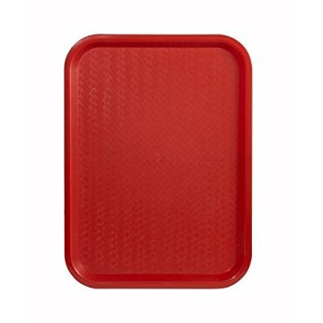 Winco FFT-1216R Red Fast Food Tray, Set of 6 by Winco
