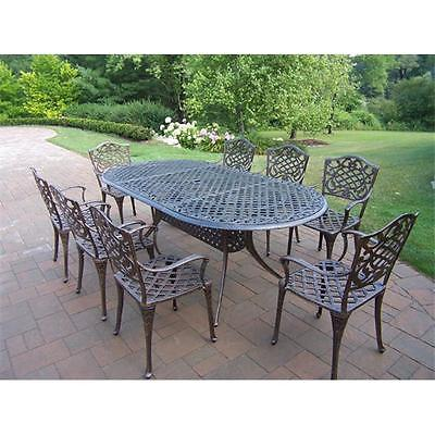 BrandNew Oakland Living Corporation Mississippi 82 x 42 Inch Oval 9pc Dining Room Set Furniture GSS180194959 by GSS