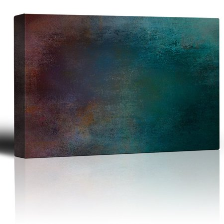 wall26 - Red and Blue Gradient Watercolor Background - Giclee Print Abstract Canvas Wall Art Rustic Home Decor - 24x36 inches