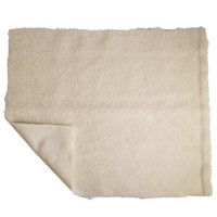 PCP Pressure-Relief Pad, Synthetic Sheepskin, Off-White, 30 x 60 inches