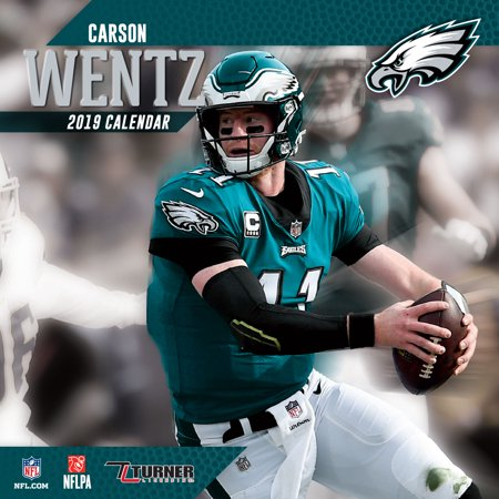2019 12X12 PLAYER WALL CALENDAR, PHILADELPHIA EAGLES CARSON WENTZ
