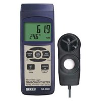 REED INSTRUMENTS Environmental Meter,LCD,(6) AA Battery SD-9300