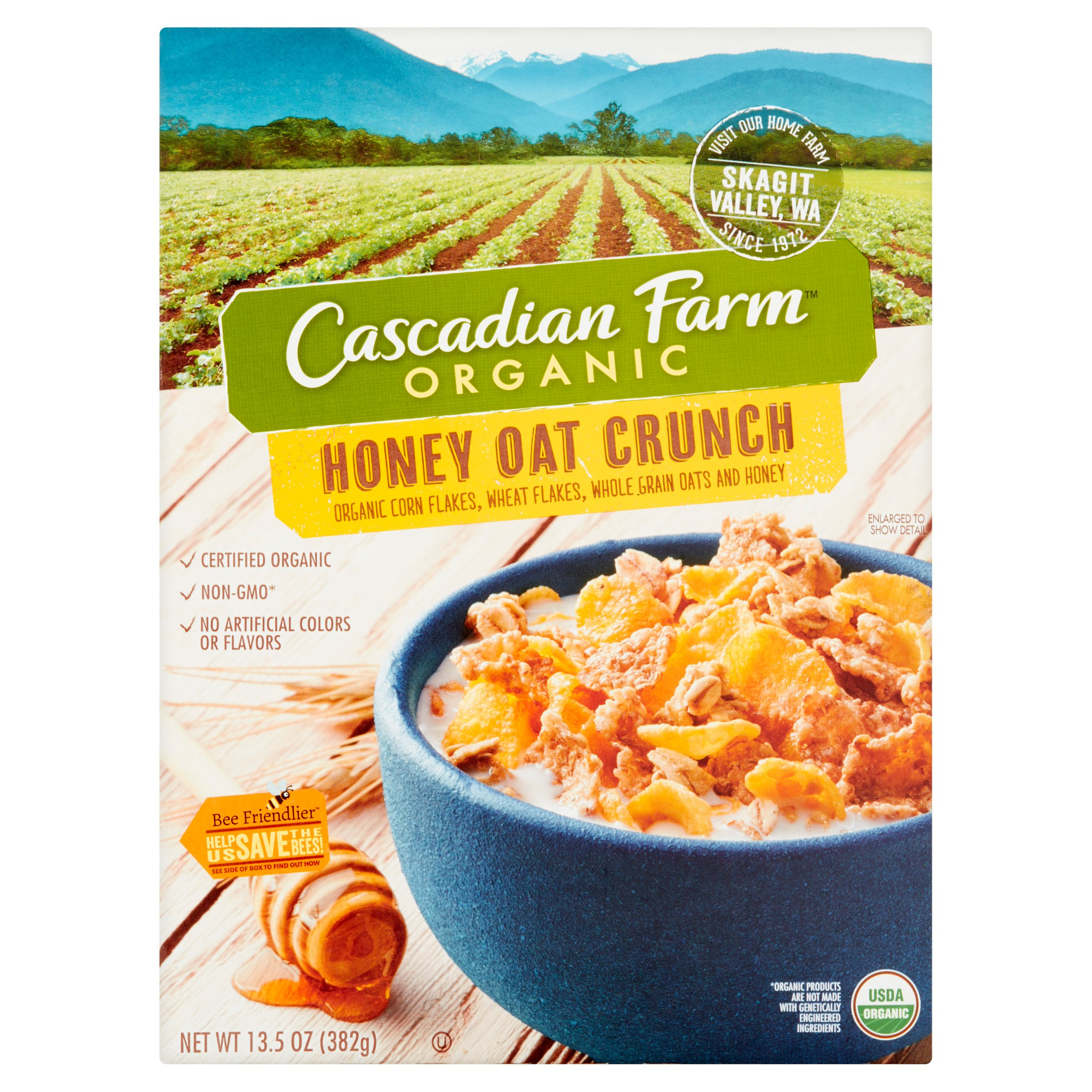 Cascadian Farm Organic Honey Oat Crunch Cereal 13.5 oz Box by SMALL PLANET FOODS, INC.