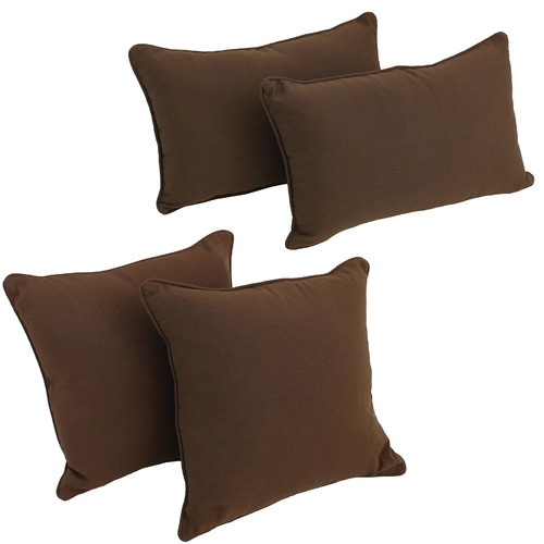 Blazing Needles 4 Piece Twill Pillow Set