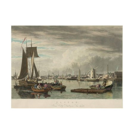 Boston from City Point Near Sea Street Print Wall Art By W.J. Bennett - Nearest Party City Near Me