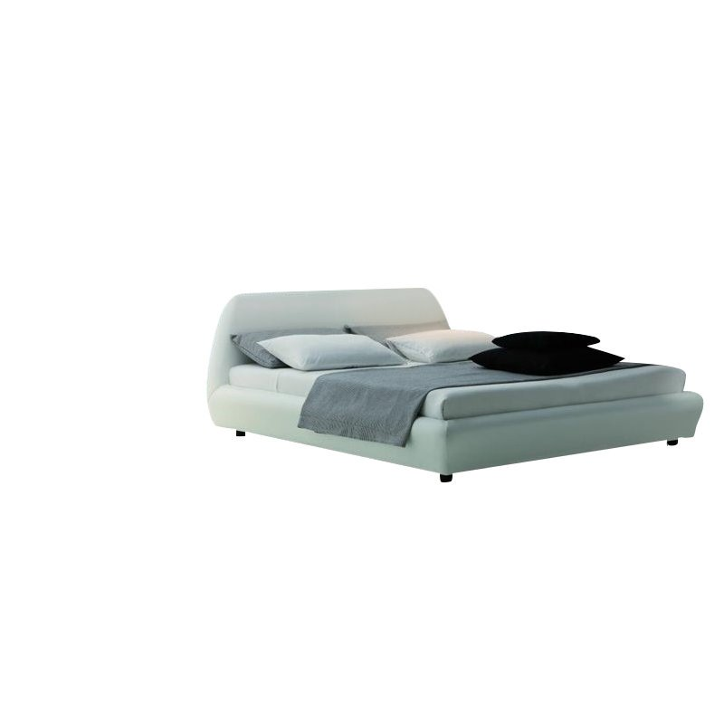 Rossetto Downtown Platform Bed in White by Rossetto