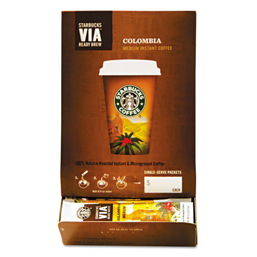 Starbucks Coffee Via Ready Brew Colombia Coffee (Pack of 50)