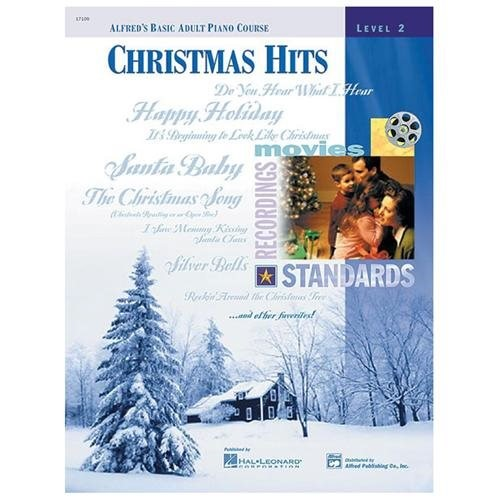 Alfred 00-17109 Basic Adult Piano Course- Christmas Hits Book 2 - Music Book