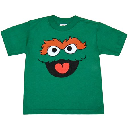 Sesame Street Oscar The Grouch Face Toddler T-Shirt