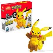 Mega Construx Pokemon Jumbo Pikachu Construction Set with character figures, Building Toys for Kids (825 Pieces)