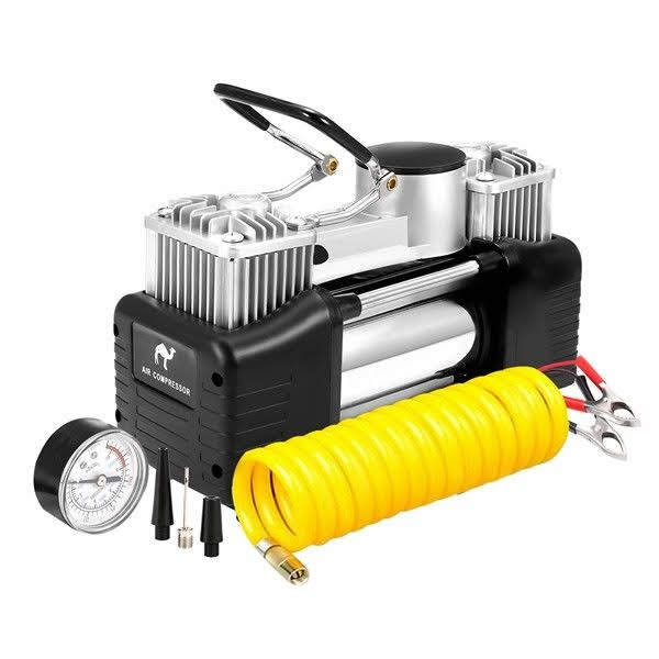 12V Portable Heavy Duty Pump Electric Tire Inflator Car Air Compressor 150PSI For Inflating Balls Toys Car Tyre Black
