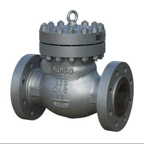 NEWCO 08-33F-CB2 Swing Check Valve, Carbon Steel, 8 In.