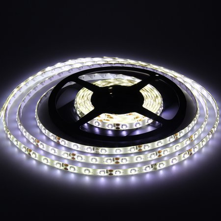 Generic White Double Density 600 LEDs Flexible Light Strip, 3528 Type SMD, 5 Meter or 16.4 Ft, 12 Volt, 48 (12 Volt Transformer For Led Strip Lights)