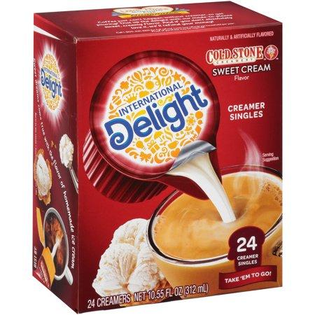 International Delight Cold Stone Creamery Sweet Cream Non-Dairy Coffee Creamer Singles 24 ct ...