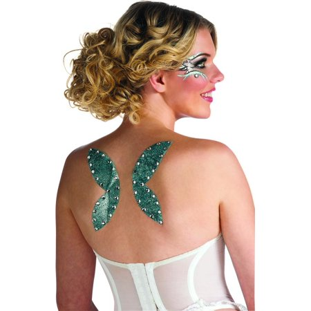 Peel 'N Stick Fairy Wings Glitter Tattoo Stickers Costume Accessory - Halloween Nz