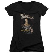 Mgm Army Of Darkness Reeeal Ugly! Juniors V-Neck Shirt