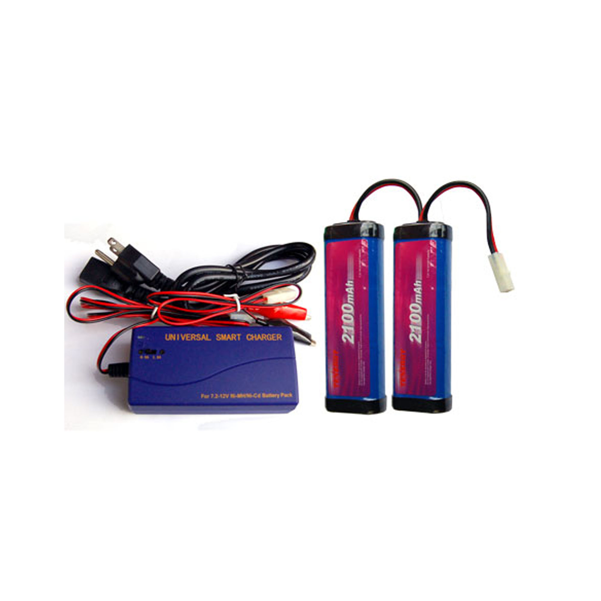 2 x 7.2 Volt NiCd Battery Packs (2100 mAh) + Universal Smart Charger - image 1 of 1