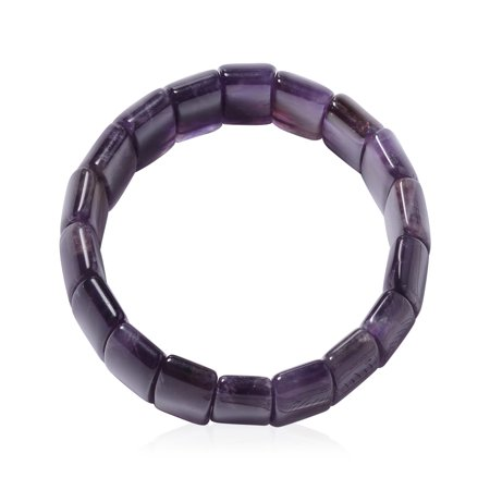 "Amethyst Bracelet for Women Stretchable 7"""