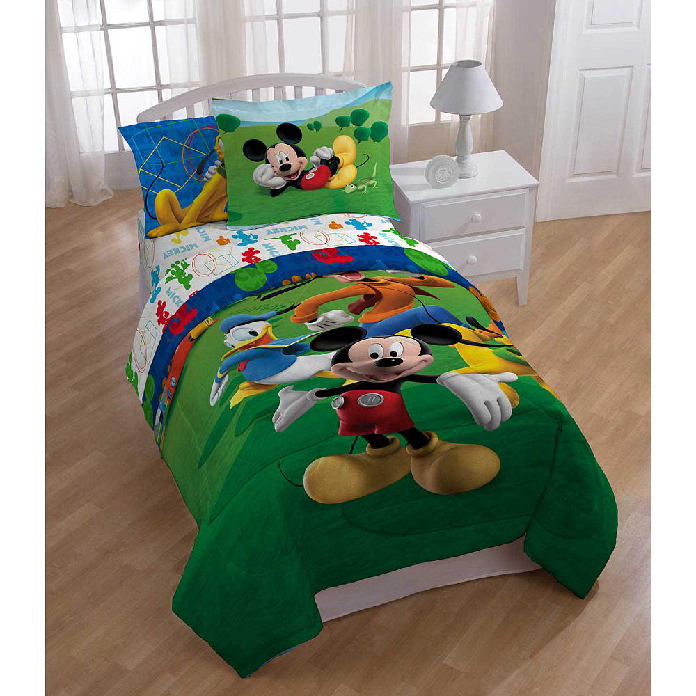 Mickey Mouse Clubhouse Twin Comforter & Sheet Set (4 Piece Bed In A Bag)