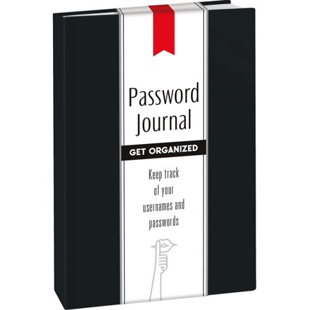 Password Journal: Midnight Black -
