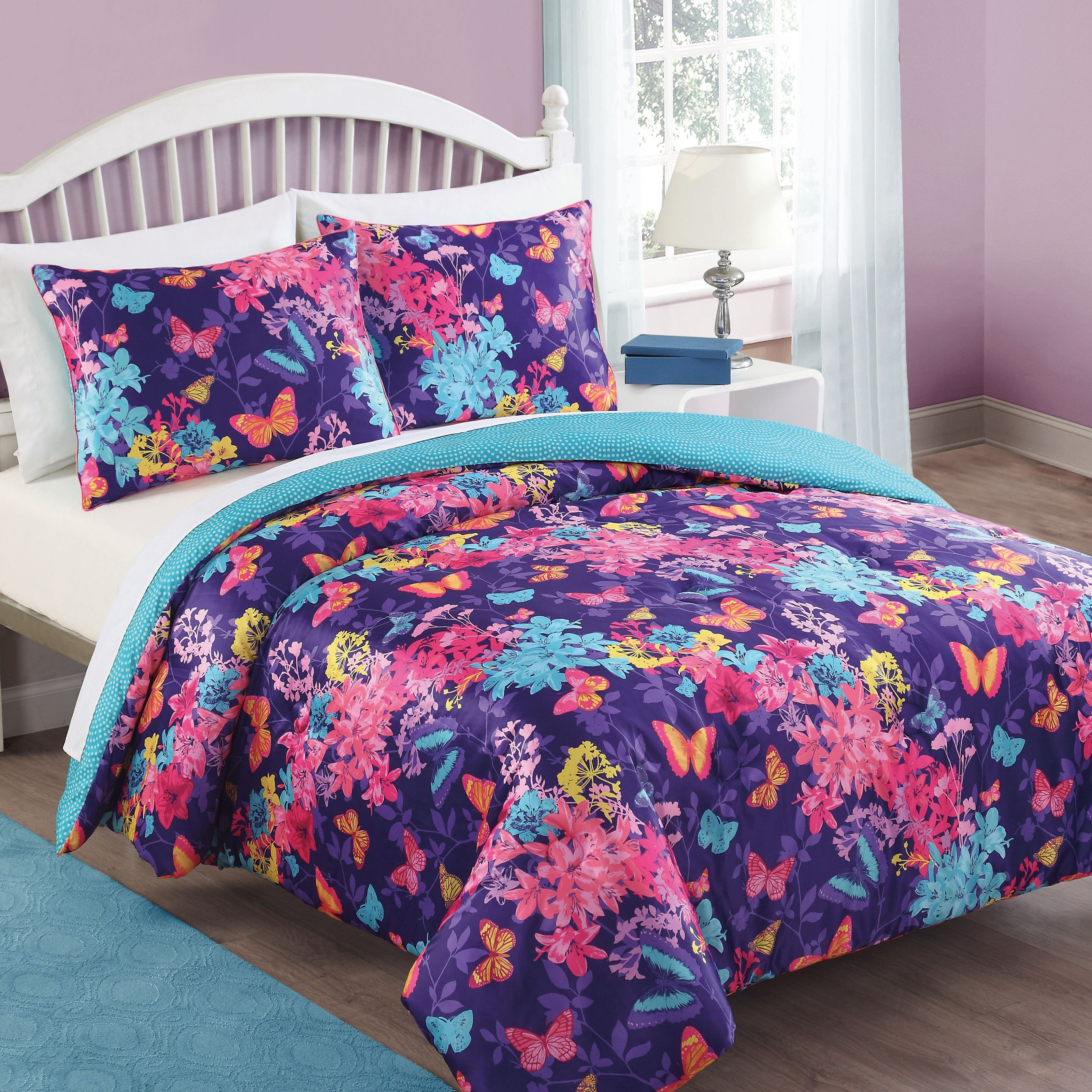 Bella Butterfly Comforter Set by Bed Threads