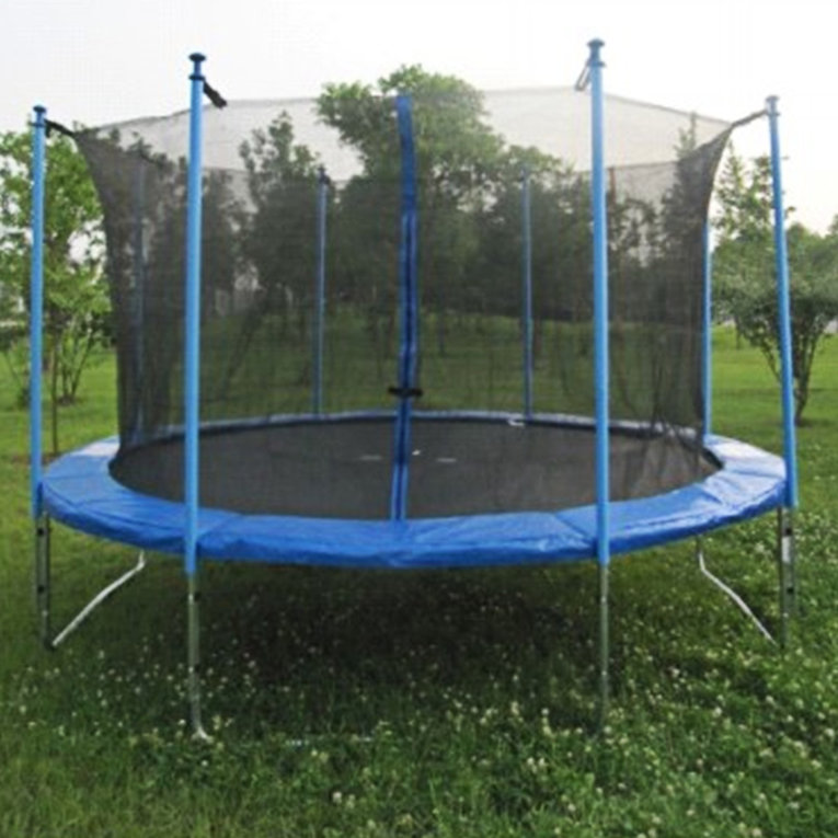 14 Feet Round Trampoline Enclosure Net Replacement Netting 4 Arch 8 Poles