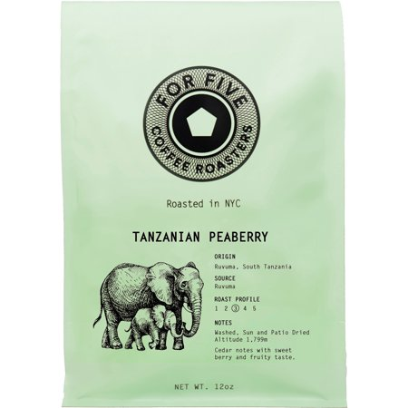 For Five Coffee Roasters Tanzania Peaberry Ground 12 oz