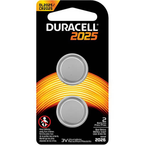 Duracell Coin Button 2025 Battery, 2-Count