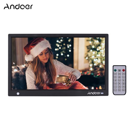 - Andoer 15.6 Inch 1920*1080 IPS LED Digital Photo Frame Electronic Picture Album Advertising Machine Scroll Subtitle Motion Detection Sensor MP3 MP4 Clock Calendar Functions with Remote Control