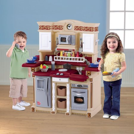 Step2 Classic Lifestyle Party Time Play Kitchen with 33 Cooking Accessories