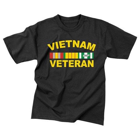 Rothco Vietnam Veteran T-Shirt - Black, Medium
