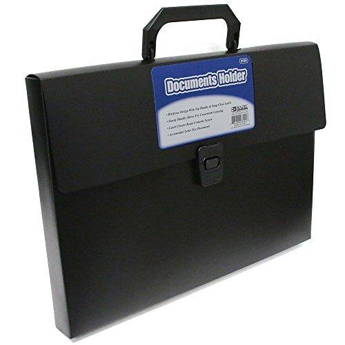 (Price/Case of 24)Bazic Products 3124-24 Letter Size Document Case W/ Handle