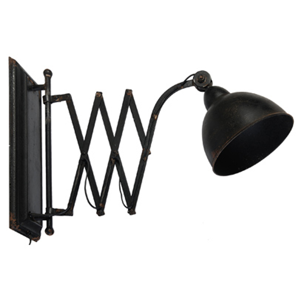 A&B Home Arris Extension Wall Lamp, Black by A&B Home