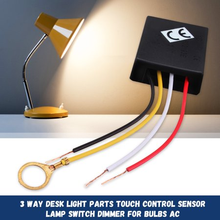 3 Way LO-ME-HI-OFF Table Desk Light Lamp Switch Touch Control Sensor Dimmer Bulbs on/off Parts Repair AC