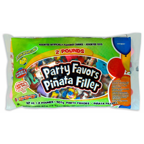 Assorted Candy and Toys Pinata Filler, 2 lbs by Unique Industries