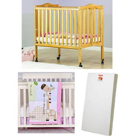 dream on me portable crib bundle portable girl crib bedding and mattress included. Black Bedroom Furniture Sets. Home Design Ideas