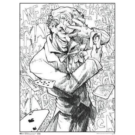 Joker Comic Book Art Coloring Poster 18x24 inch - Walmart.com