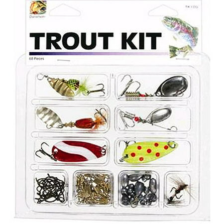 Danielson Trout Kit with Lures and Tackle, 68