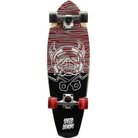 Speed Demons V-Lam Cruiser Complete Skateboard, 29